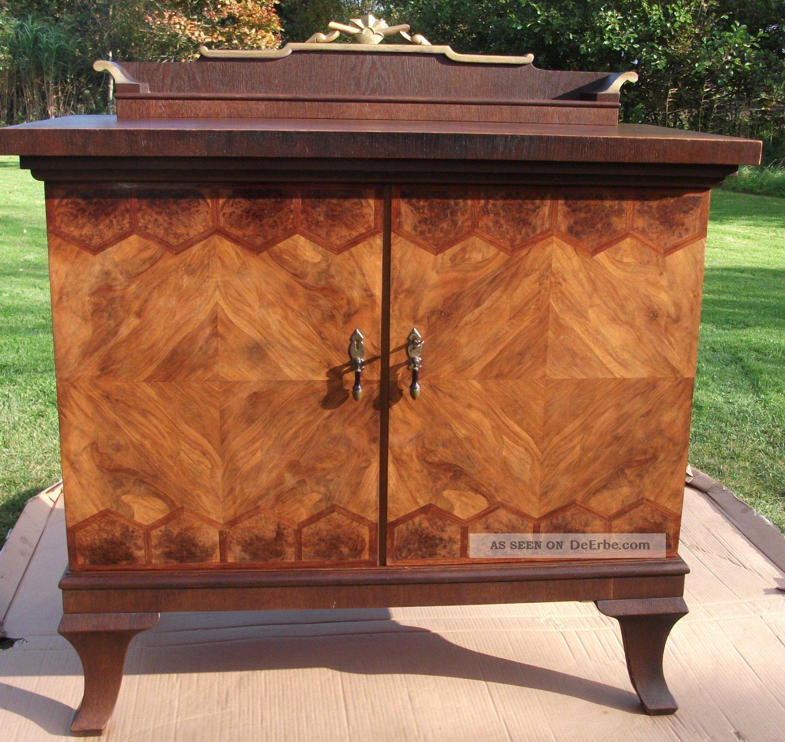 massive kommode antik bj ca 1927 30 intarsien eiche. Black Bedroom Furniture Sets. Home Design Ideas