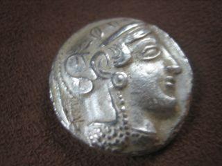 Griechische Münze Attika Eule Sammlerstück 5.  Jh.  Vor Chr.  ? Antik ? Drachmen ? Bild