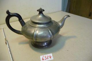 Nr.  6324.  Alte Kaffeekanne Zinn Teekanne Deko Kanne Bild
