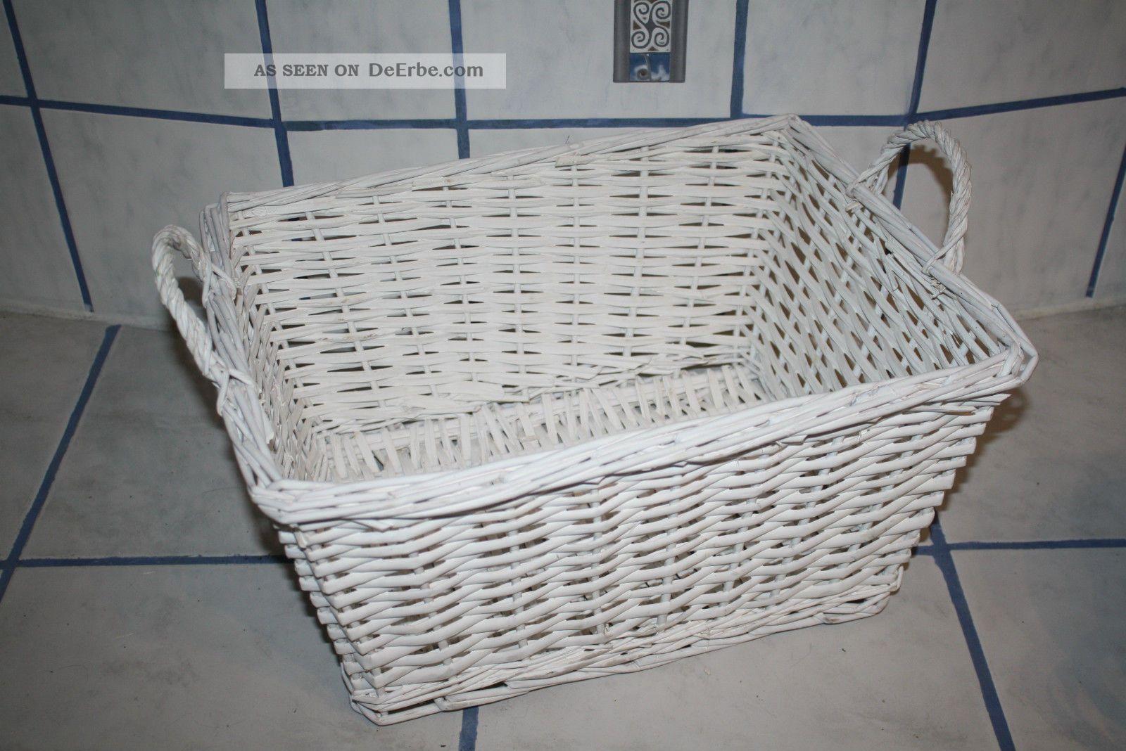 Weidenkorb Deko Korb Rattan Impressionen Waschekorb Shabby Chic