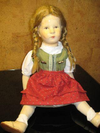 Alte Käthe Kruse Puppe,  Ca 50 Cm Groß,  Sehr Bespielt Bild