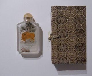 Handbemalte Flasche Der Sanfte Büffel 94 China Asien Japan Glas Kunsthandwerk Bild
