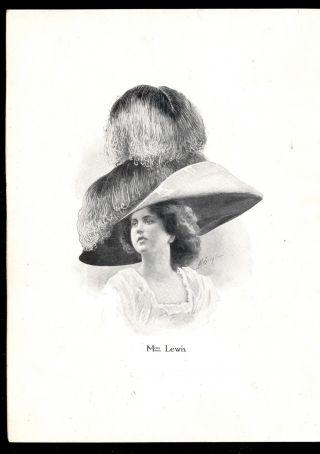 Modell - Hüte Paris,  1911 Ausstellung Stockholm,  Druck Berlin 10 Wahnsinns - Hüte Bild