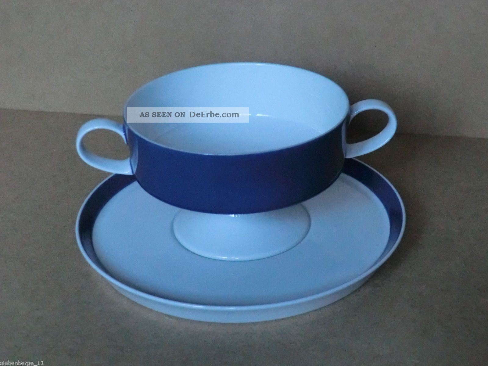 rosenthal porzellan tapio wirkkala indigo blau suppentasse mit untertasse. Black Bedroom Furniture Sets. Home Design Ideas