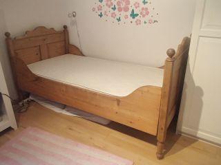 Antikes Bett 90 X 190 Mit Lattenrost Und Matratze Bild