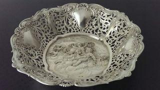Schale Mit Amorettenrelief 800er Silber Deutsch Um 1900,  269 Gramm Bild