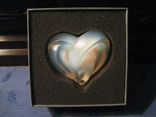 Herz Skulptur Aus Kristall Lalique Opaleszent Mit Originalverpackung Bild