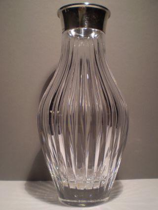 Art Deco Silber - Vase Kristall / Perfekt / Breite 925er Silbermontierung / Wtb Bild