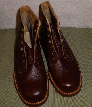 True Vintage Echt - Leder - Boots - Schnürstiefel Gr.  36 Aus Den 50er Jahren Neuwertig Bild