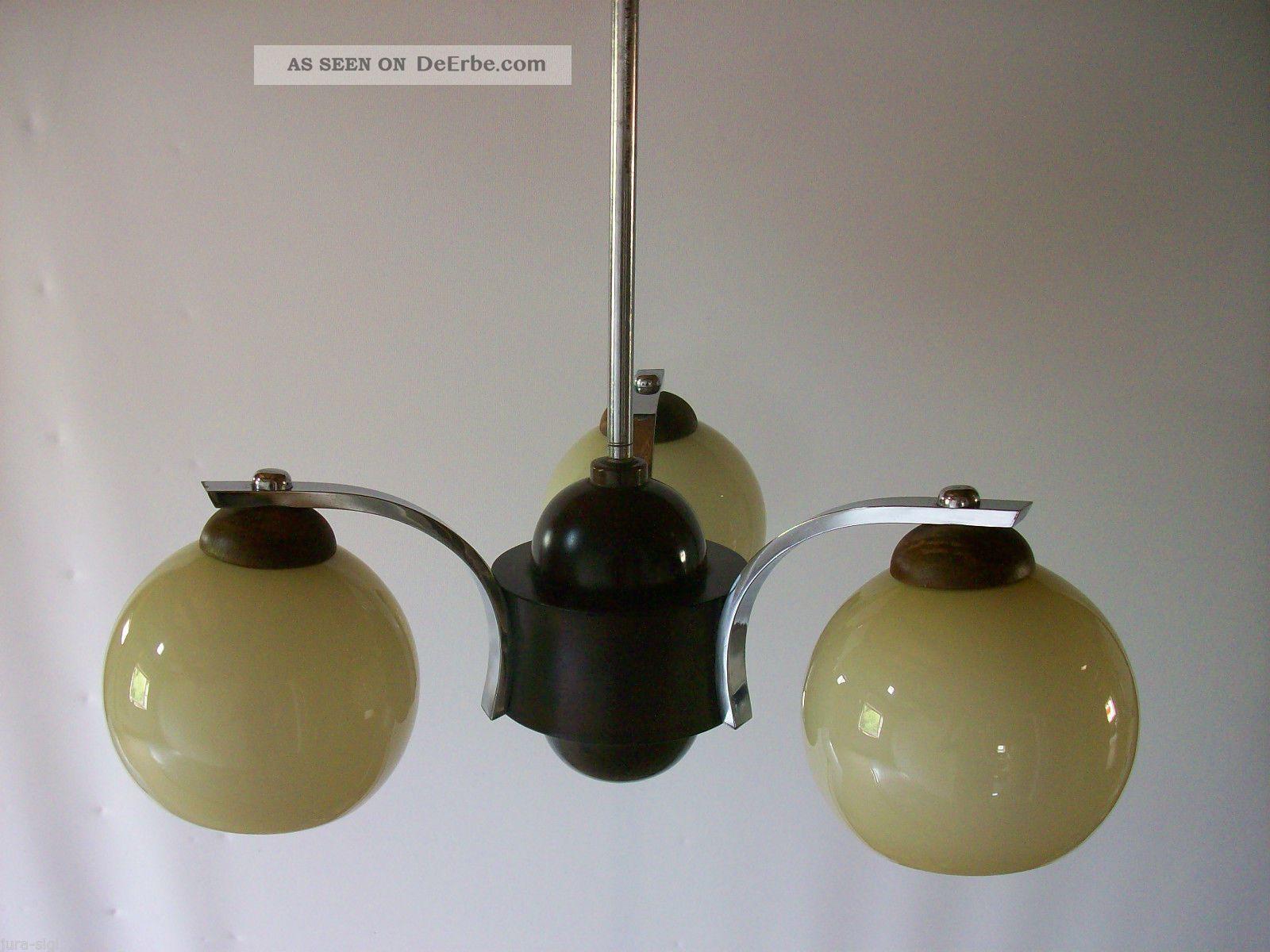 Art déco lampe um leuchter gläser mit gravur germany