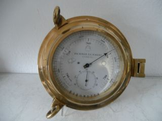 Rar Rickmer Rickmers Hamburg,  Bullaugen Barometer Mit Thermometer 22,  5cmØ (a664) X Bild