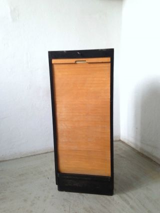 Vintage Art Deco Rollladenschrank Rollschrank Jalousienschrank Loft Bauhaus Bild