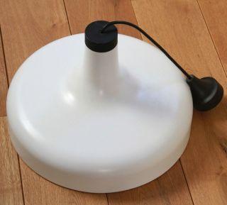 Staff Lampenschirm Lampe Weiß Metall 1970er Jahre Leuchte Nr.  510022 Bild