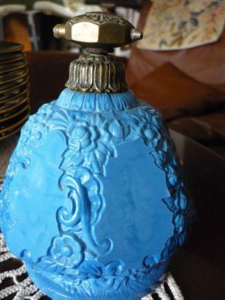 Parfümflakon - Uralt - Blaues Glas? Bild