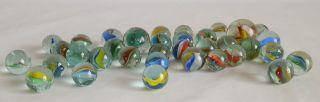 Alte Und Sehr Schöne Glasmurmeln,  35 Stück Bild