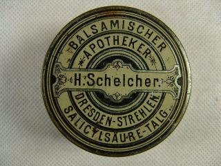 Antike Blechdose Apotheke Dresden Strehlen Um 1900 Bild