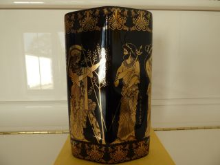 Griechische Vase - 24 Kt.  Gold - Selten - Porzellanvase - Handarbeit - - Dachbodenfund Bild