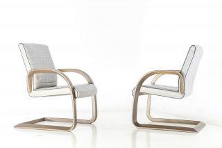 2 Stück Drabert Leder Freischwinger Stühle Konferenz Sessel Bild