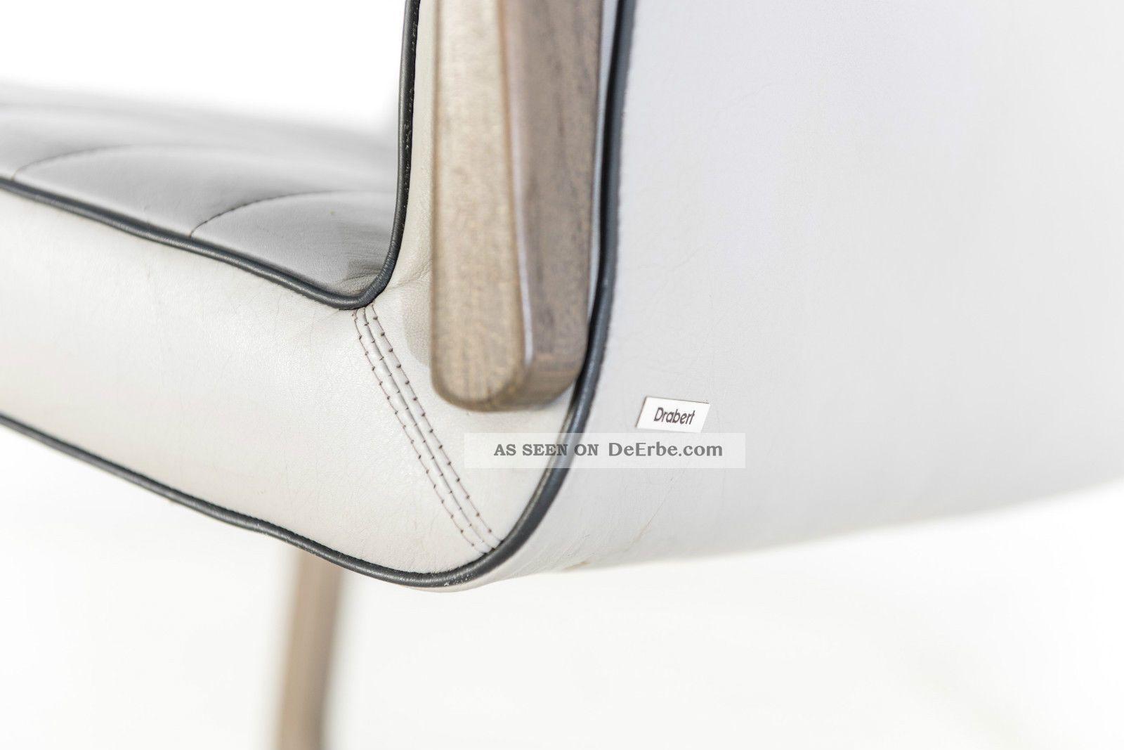 2 st ck drabert leder freischwinger st hle konferenz sessel. Black Bedroom Furniture Sets. Home Design Ideas