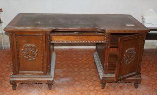 Schreibtisch,  Ca.  1920er Jahre,  Jugendstil,  160x78 Cm.  Ca. Bild