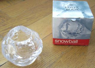 Snowball Created In The Snow Of The Seventies Kosta Boda Teelicht Halter Ovp Bild