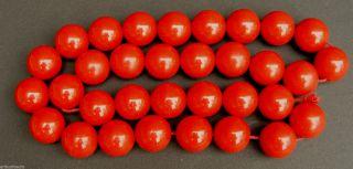 Tolle Vintage Cherry Bakelit Halskette,  Grosse Runde Kugeln Bild