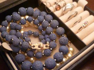 1 Tag Schmucksammlung,  Schmuck Konvolut,  333 Gold,  835,  925 Silber,  Citrin,  Lava,  Usw. Bild