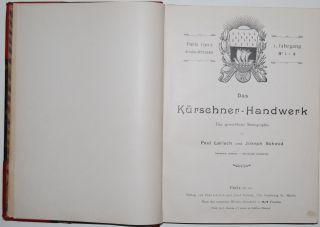 Das Kürschner Handwerk Eine Gewerbliche Monographie P.  Larisch & J.  Schmid 1902 Bild