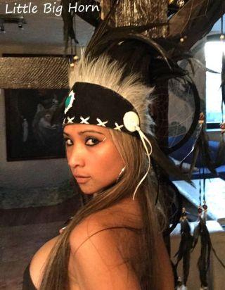 Indianer Kopfschmuck Top Federhaube Coiffe Indienne War Bonnet Little Big Horn Bild
