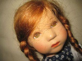Käthe Kruse Puppe Däumlinchen Bettina Sommersprossen Modell Hanne Kruse Bild