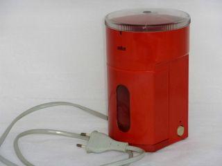 Braun Kmm2 Elektronische Kaffeemühle Typ 4023 Vintage Küche 70 Er Jahre Orange Bild