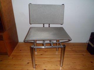 Designer Stuhl Chrom Sitz Und Lehne Aus Metallgeflecht Bild