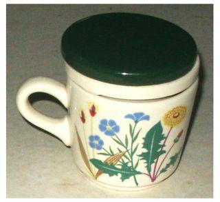 Schöne Alte Teetasse - Tasse – Mit Pflanzenmotiv Wächtersbach Unbenutzt Wie Bild