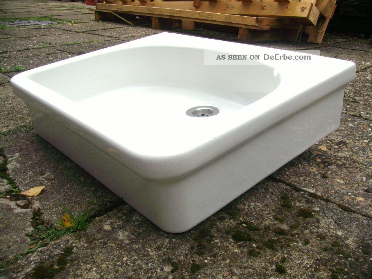 Antiker sp lstein keramag gem waschbecken sp lbecken art for Waschbecken landhaus