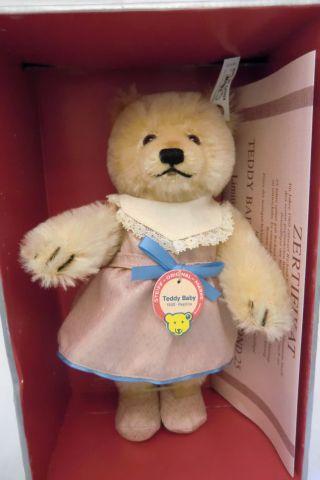 Unbespielt Steiff Teddy Baby Maid No: 407512 Replika 1930 Modell In Ovp Bild