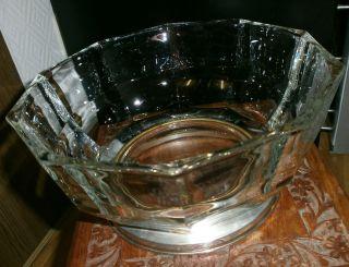 Kristallglas Schale Silber Metallfuß Glasschale 23,  5 Zehneckig Italy Bild