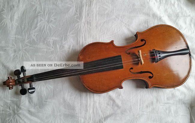 Geige Um 1900 Julius Rudolf Gotha Hofinstrumentenmacher Saiteninstrumente Bild