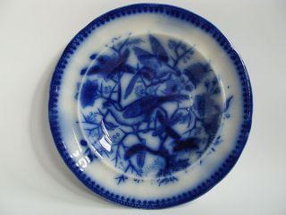 Antiker Keramik Villeroy Boch Tiefer Teller Fasan Steingut Steinzeug 1880/19.  Jh. Bild