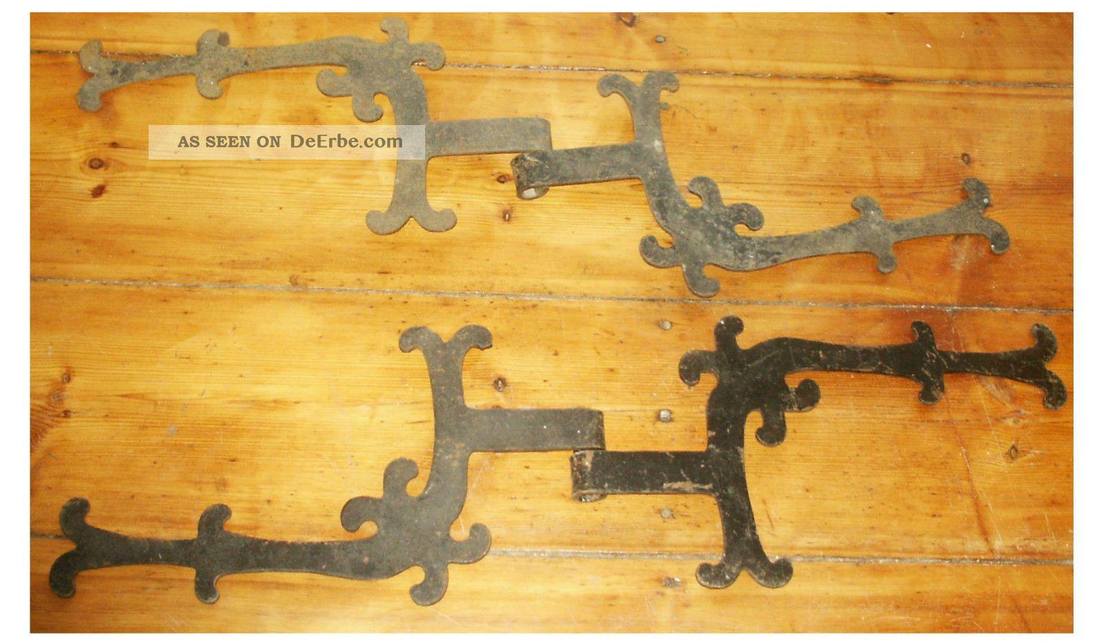 4 alte sehr dekorative schöne türbänder burg o. schloss 2 tor