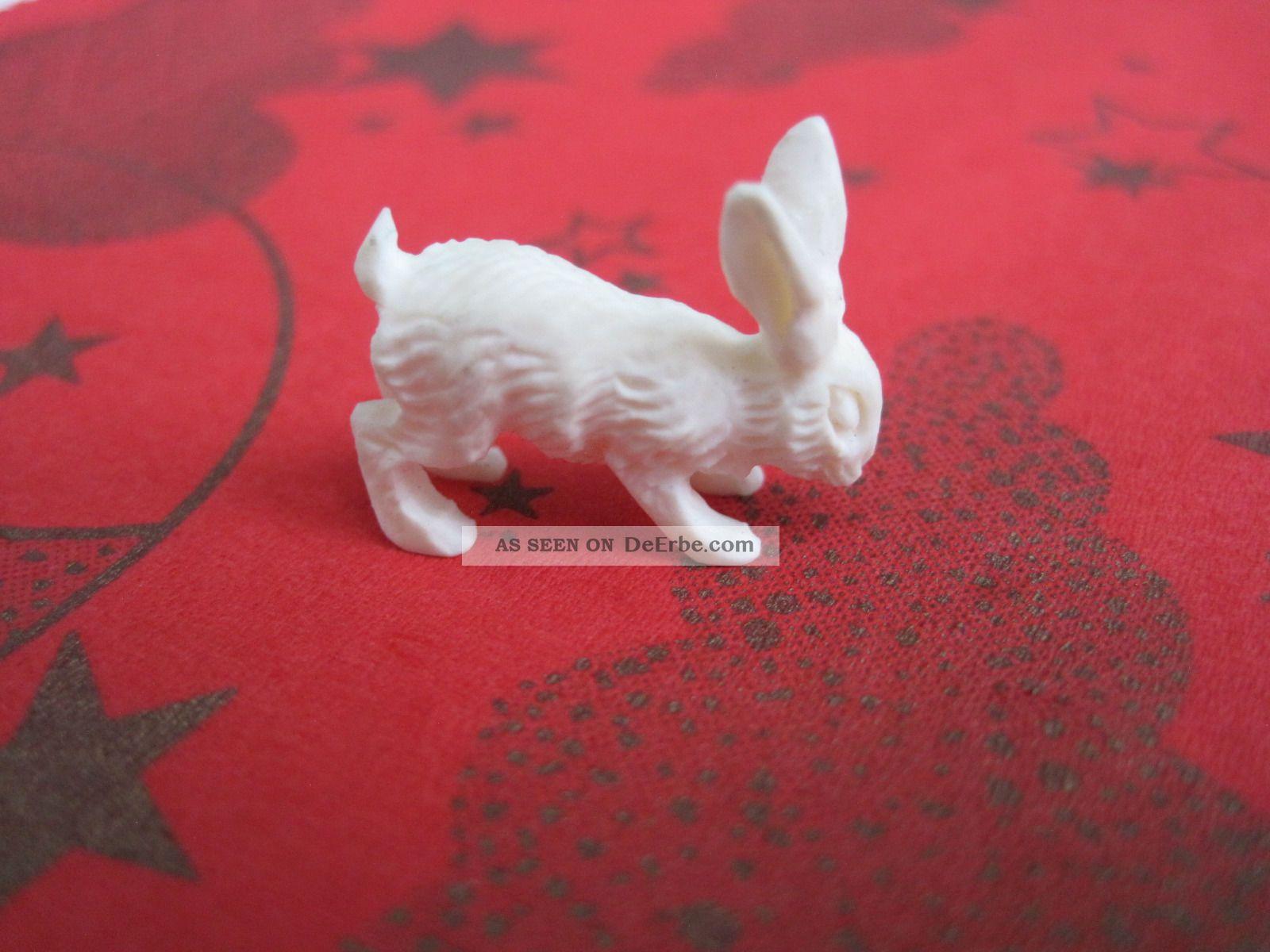Antike Miniaturschnitzerei Hase Aus Bein Beinarbeiten Bild