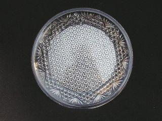 Alte Runde Flache Platte Pressglas Klar Brockwitz Koh - I - Noor 1915?/ukc64 Bild