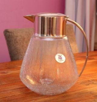 Wmf Kalte Ente Craquele Glas Mit Kühleinsatz Und Sieb Versilbert Ca.  2,  5 Liter Bild