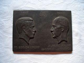 Reliefbild Gusseisen,  Friedrich Krupp / Alfried Krupp Von Bohlen Und Halbach Bild