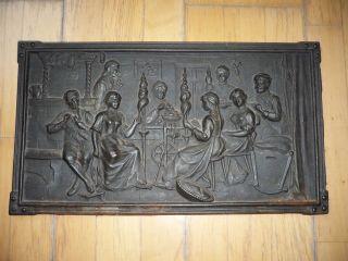 Antike Ofenplatte Gussofen Kaminplatte Ofen Etagenofen Bild