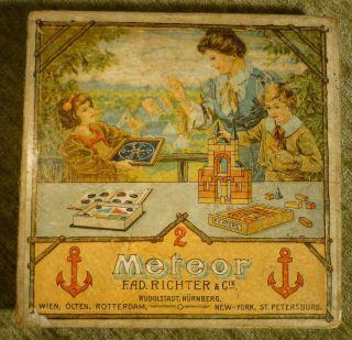 Richter Anker Meteor Kugel Mosaik Spiel Perlenkasten Antik Spielzeug Kugelmosaik Bild
