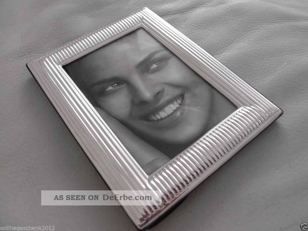 Massiv Sterling Silber 925 Bilderrahmen 9x13 Silberrahmen Fotorahmen ...