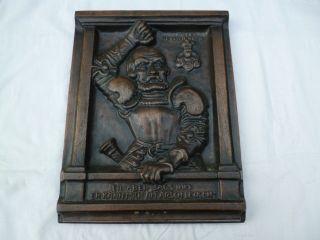 Götz Von Berlichingen Büste / Wandrelief Aus Metall Sehr Schwer Ca.  6kg Bild