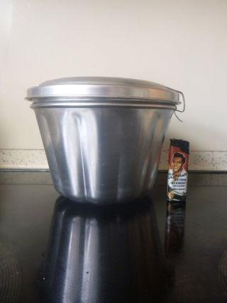 Dr.  Oetker Wasserbadform Große Puddingform Reinalu - Eloxiert Bild