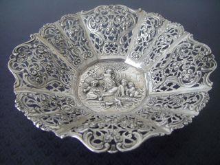Schale Mit Amorettenrelief 800er Silber Deutsch Um 1900,  130 Gramm Bild