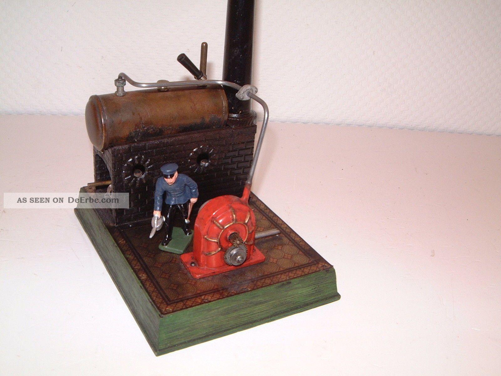 Selten - Bing Dampfturbine Auf Holzsockel Mit Blech - Fliesenboden Gefertigt vor 1945 Bild